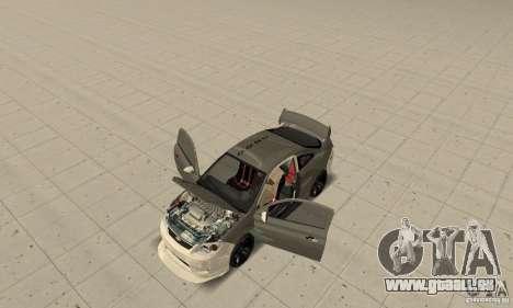 Chevrolet Cobalt SS NFS ProStreet pour GTA San Andreas vue intérieure
