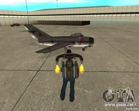 MIG 15 URSS pour GTA San Andreas vue de droite