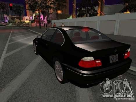 BMW M3 GT-R Stock pour GTA San Andreas vue de côté