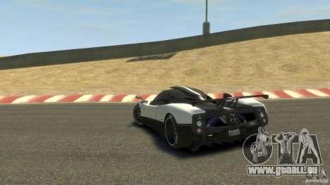 Pagani Zonda Cinque 2009 pour GTA 4 Vue arrière de la gauche