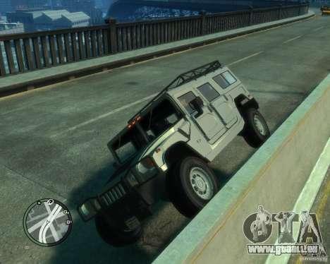 Hummer H1 pour GTA 4 est une vue de l'intérieur
