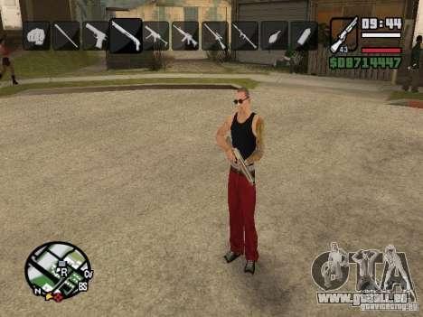 Symbole beim Ändern von Waffen für GTA San Andreas fünften Screenshot