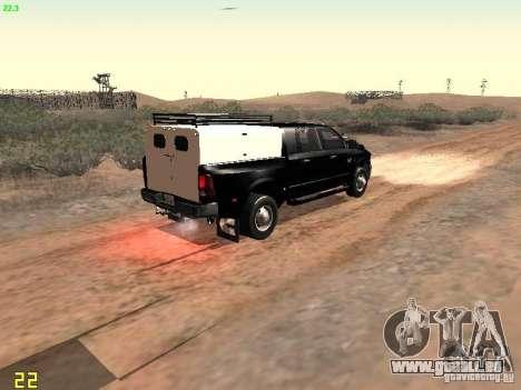 Dodge Ram 3500 Unmarked pour GTA San Andreas vue arrière
