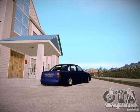 Lada Priora Chelsea pour GTA San Andreas vue arrière