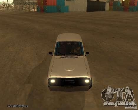 Gaz Volga 2410 Drift Edition pour GTA San Andreas vue de dessus