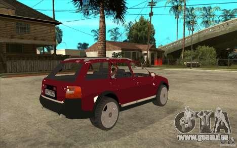 Audi Allroad Quattro v1.1 pour GTA San Andreas vue de droite