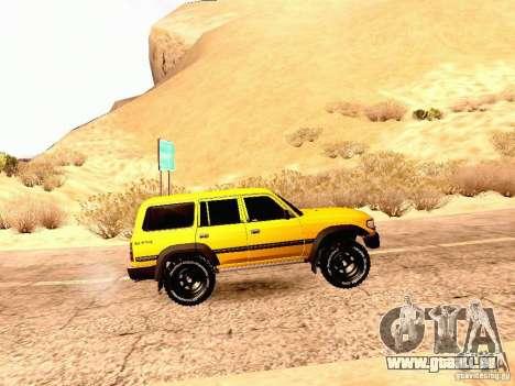 Toyota Land Cruiser 80 Off Road Rims pour GTA San Andreas laissé vue