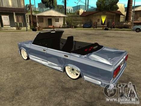 VAZ 2107 Convertible pour GTA San Andreas laissé vue