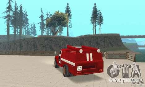 Incendie ZIL-130 pour GTA San Andreas sur la vue arrière gauche