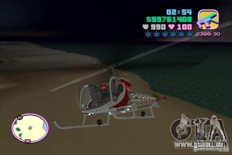 Bell 47 für GTA Vice City Rückansicht