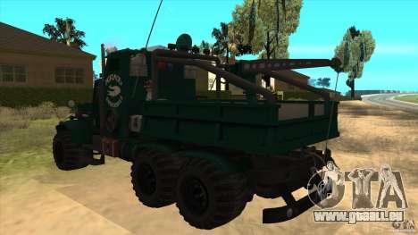 KrAZ 255 B1 Krazy-Krokodil für GTA San Andreas zurück linke Ansicht