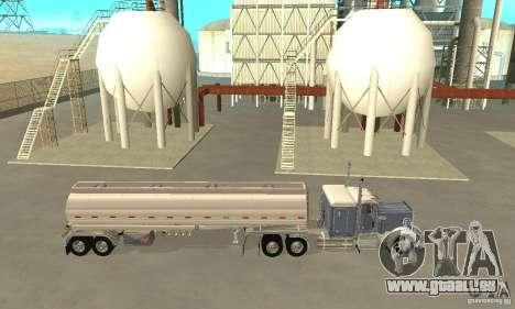 Peterbilt 379 Custom And Tanker Trailer pour GTA San Andreas laissé vue