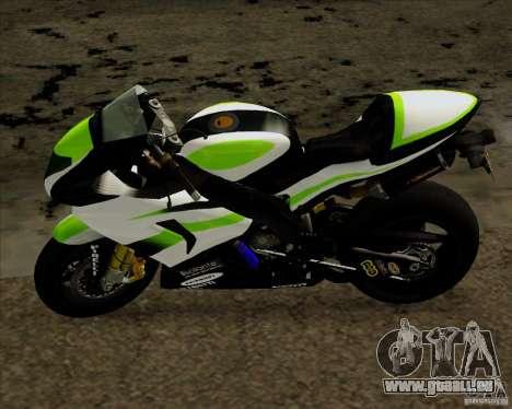 Kawasaki ZX-10R pour GTA San Andreas sur la vue arrière gauche