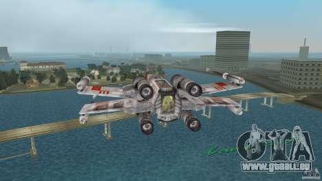 X-Wing Skimmer für GTA Vice City Rückansicht