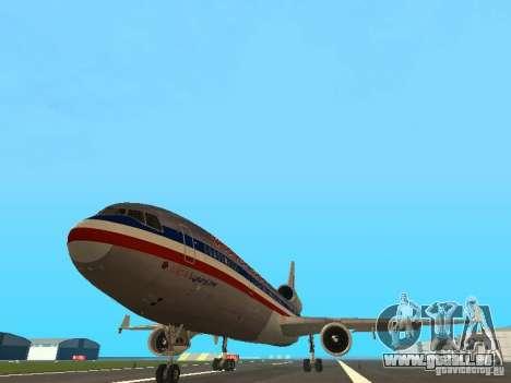 McDonell Douglas MD11 American Airlines pour GTA San Andreas vue arrière