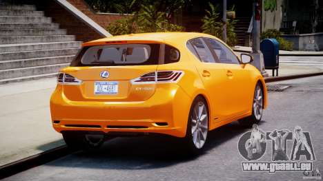 Lexus CT200h 2011 für GTA 4 Seitenansicht