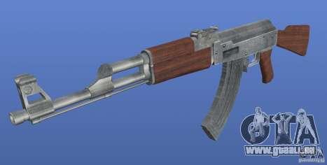 AK47 Retex 1.1 Chrome pour GTA 4 secondes d'écran