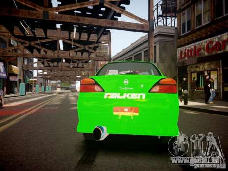 Nissan Silvia S15 Boso Drift Formula D M-Design pour GTA 4 Vue arrière de la gauche