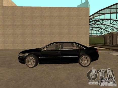 Audi A8 W12 S-Line für GTA San Andreas linke Ansicht