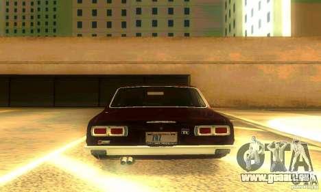 Nissan Skyline 2000-GTR pour GTA San Andreas vue de dessous