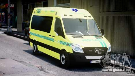 Mercedes-Benz Sprinter PK731 Ambulance [ELS] pour GTA 4 Vue arrière