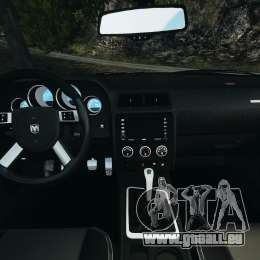 Dodge Challenger SRT8 2009 [EPM] pour GTA 4 Vue arrière
