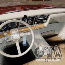 Chevrolet Impala 1967 pour GTA 4 vue de dessus