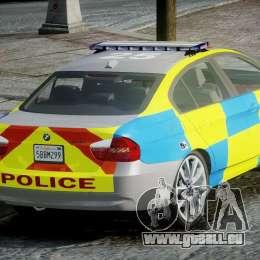 BMW 350i Indonesian Police Car [ELS] pour GTA 4 Vue arrière de la gauche