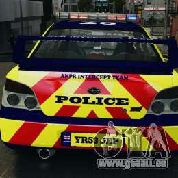 Subaru Impreza British ANPR [ELS] für GTA 4-Motor