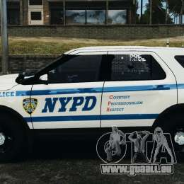 Ford Explorer NYPD ESU 2013 [ELS] für GTA 4 linke Ansicht