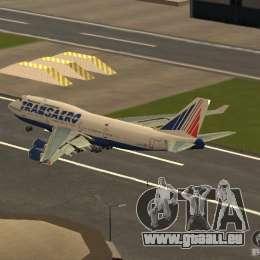 Boeing 747-400 für GTA San Andreas zurück linke Ansicht