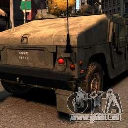 HMMWV M1114 pour GTA 4 Vue arrière de la gauche