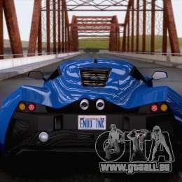 Marussia B2 2010 pour GTA San Andreas vue de droite