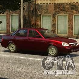 VAZ Lada 2170 Priora pour GTA 4 est une vue de dessous