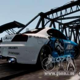Nissm Silvia S15 Blue Tiger für GTA 4 linke Ansicht