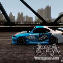 Nissm Silvia S15 Blue Tiger pour GTA 4 Vue arrière de la gauche