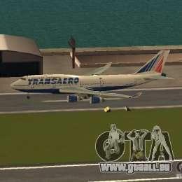 Boeing 747-400 für GTA San Andreas linke Ansicht