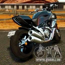 Ducati Diavel Carbon 2011 für GTA 4 hinten links Ansicht