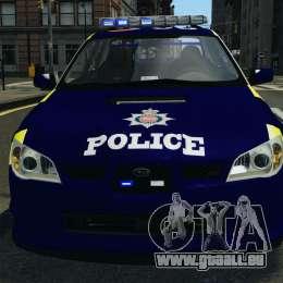 Subaru Impreza British ANPR [ELS] pour GTA 4 est une vue de dessous