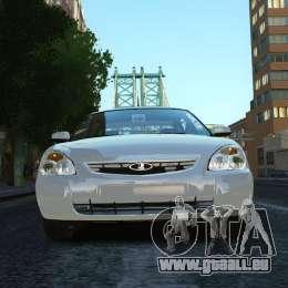 VAZ Lada 2170 Priora pour GTA 4 Vue arrière de la gauche