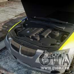 BMW 350i Indonesian Police Car [ELS] für GTA 4 obere Ansicht