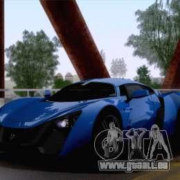Marussia B2 2010 pour GTA San Andreas vue arrière