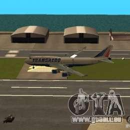 Boeing 747-400 für GTA San Andreas Innenansicht