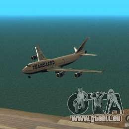 Boeing 747-400 für GTA San Andreas obere Ansicht