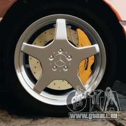 Mercedes-Benz SL 500 AMG 1995 [Final] pour GTA 4 est une vue de dessous