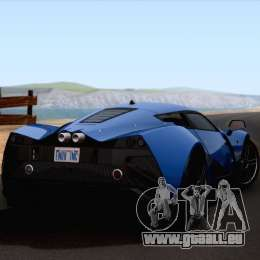 Marussia B2 2010 pour GTA San Andreas laissé vue
