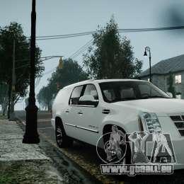 Cadillac Escalade ESV für GTA 4 Rückansicht