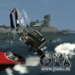 Biff boat für GTA 4 Rückansicht