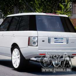Range Rover Supercharged 2009 v2.0 für GTA 4 hinten links Ansicht