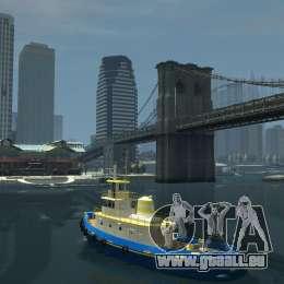 New Tug Texture v.2 für GTA 4 hinten links Ansicht